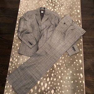 Wool pattern suit